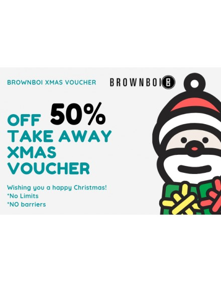 BrownBoi Xmas Voucher Buy One Get One Free
