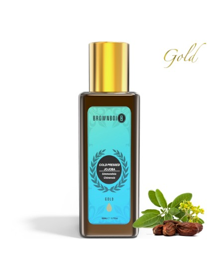 BrownBoi Pure Cold Pressed Gold Jojoba Oil With Moisturizing & Rejuvenating Effects