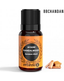 BrownBoi BBCHANDAN Mysore Sandalwood Oil Therapeutic & Aromatherapy Grade For Face Skin & Hair Care