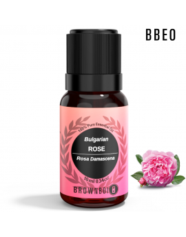 BrownBoi BBEO Bulgarian Rose Essential Oil Fresh Therapeutic & Aromatherapy Grade For Face Skin & Hair Care