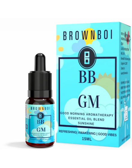 BrownBoi BBGM Good Morning Sunshine Aromatherapy Essential Oils Blend For Awakening Headache Relief & Good Vibes