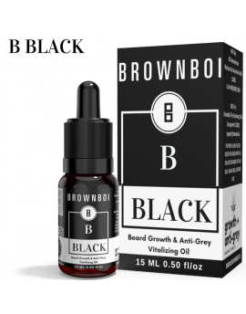 BrownBoi BBLACK Beard Growth & Anti-Grey Vitalizing Oil