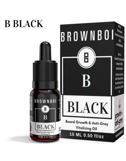 BrownBoi BBLACK Beard Growth & Anti-Grey Vitalizing Oil