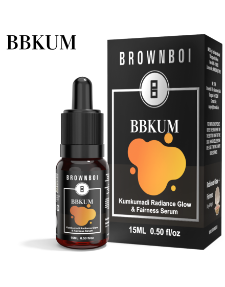 BrownBoi BBKUM Kumkumadi Oil Face Serum For Glow With Kashmir Saffron & Red Sandalwood Ideal For Dry Oily Combinaination & Dull